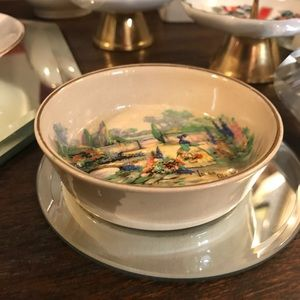 Vintage Kitchen - Handmand England In an Old World Garden Dish